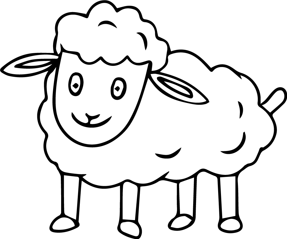 Lamb Coloring Book Image for Print