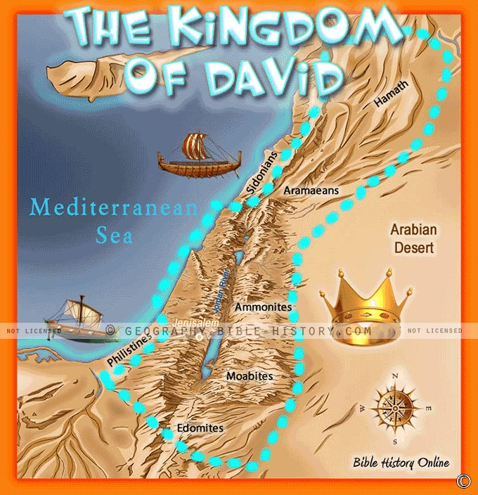 The Kingdom of David from the River of Egypt to the Great Euphrates.