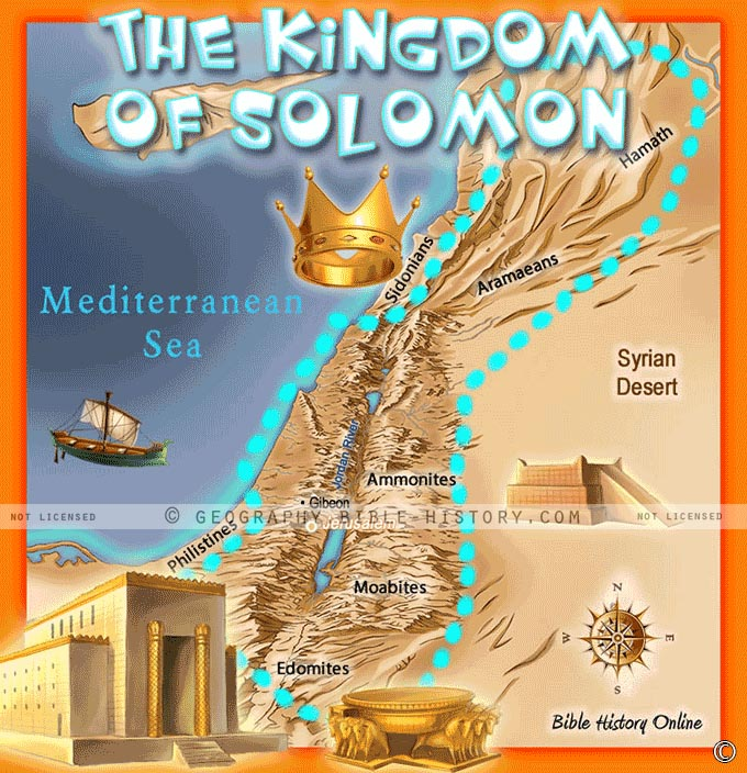 The Kingdom Of Solomon Kids Bible Maps - Map of egypt old kingdom
