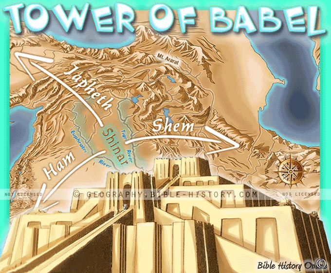 The Tower of Babel - Kids Bible Maps